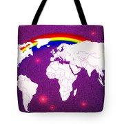 Rainbow's World 20 Tote Bag