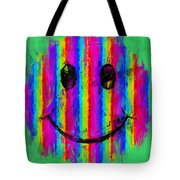 Rainbow Abstract Smiley Face Tote Bag
