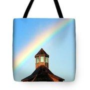 Rainbow Against Blue Sky Tote Bag