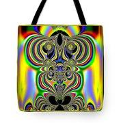 Rainbow Alien Owls Fractal 57 Tote Bag