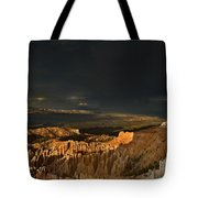 Rainbow And Thunderstorm Bryce Canyon National Park Ut Tote Bag