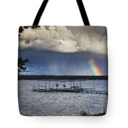 Rainbow At Burt Lake Tote Bag