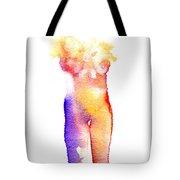 Rainbow Body Of Light Tote Bag