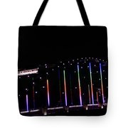 Rainbow Bridge And Super Moon Tote Bag