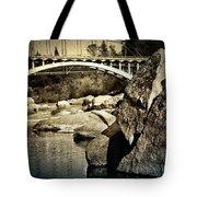 Rainbow Bridge In Folsom Ca Tote Bag