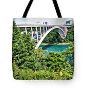 Rainbow Bridge View Tote Bag