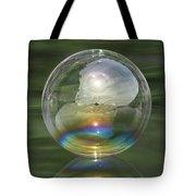 Sun Halo Rainbow Bubble Tote Bag