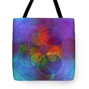 Rainbow Bubbles Tote Bag by Klara Acel