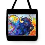 Rainbow Buffalo Tote Bag