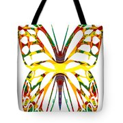 Rainbow Butterfly Abstract Nature Artwork Tote Bag
