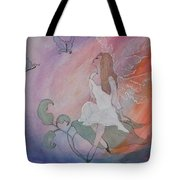 Rainbow Butterfly Fairy Tote Bag