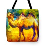 Rainbow Camel Tote Bag by Pixel Chimp