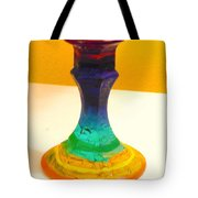 Rainbow Candlestick Tote Bag