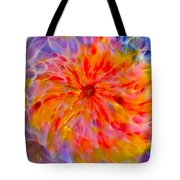 Rainbow Coronal Tote Bag