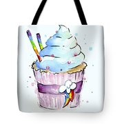 Rainbow-dash-themed Cupcake Tote Bag
