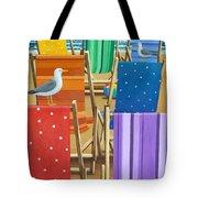 Rainbow Deckchairs Tote Bag