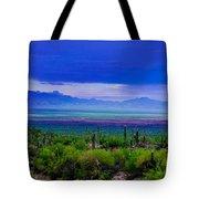 Rainbow Desert Landscape Tote Bag
