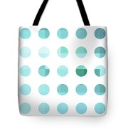 Rainbow Dots Aqua  Tote Bag