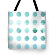 Rainbow Dots Aqua  Tote Bag