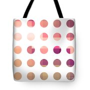 Rainbow Dots Rose Tote Bag by Pixel Chimp