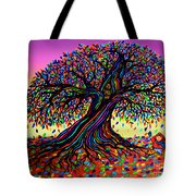 Rainbow Dreams And Falling Leaves Tote Bag