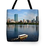 Rainbow Duck Boat On The Charles Tote Bag