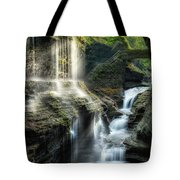 Rainbow Falls Square Tote Bag