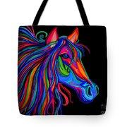 Rainbow Horse Head Tote Bag