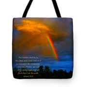 Rainbow In The Cloud Tote Bag