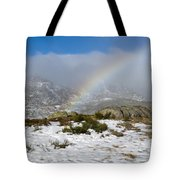Rainbow In The Mountain Tote Bag
