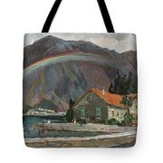 Rainbow In The Mountains Tote Bag