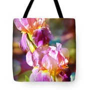 Rainbow Irises Tote Bag