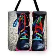 Rainbow Laces Tote Bag