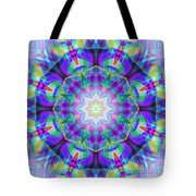 Rainbow Lotus Tote Bag