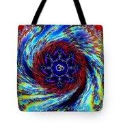 Rainbow Om Fractal Swirl Tote Bag