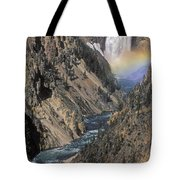Rainbow On The Lower Falls Tote Bag