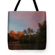 Rainbow Over Cathedral Rocks Tote Bag