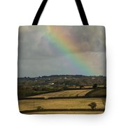 Rainbow Over Fields Tote Bag