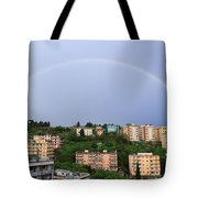 rainbow over Genova Tote Bag