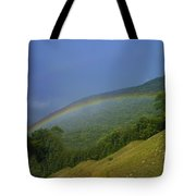 rainbow over Maggie valley Tote Bag