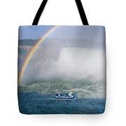 Rainbow Over Niagara. Tote Bag