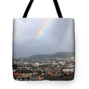 Rainbow Over Oslo Tote Bag
