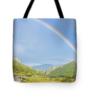 Rainbow Over Rollinsville Tote Bag