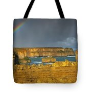 Rainbow Over Southern Ocean Tote Bag