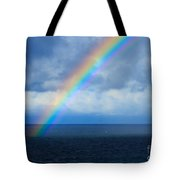 Rainbow Over The Atlantic Ocean Tote Bag