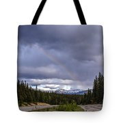 Rainbow Over The Mountains Tote Bag