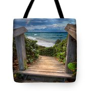 Rainbow Over The Ocean Tote Bag