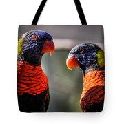 Rainbow Parrot Tote Bag
