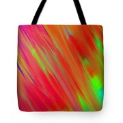 Rainbow Passion Abstract Upper Left Tote Bag