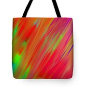 Rainbow Passion Abstract Upper Right Tote Bag